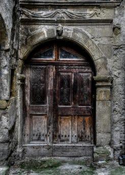 starý, dvere, vchod, vchod, architektúry dávnych, kameň