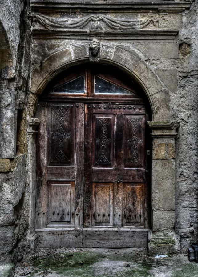стари, врата, врата, вход, архитектура, древни, камък