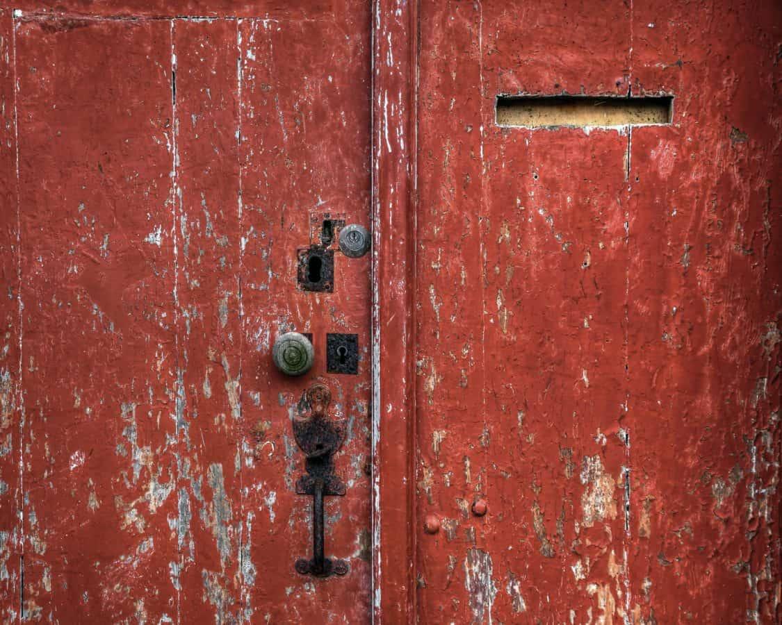 entrance, door, old, texture, gate, retro, steel, rust, iron