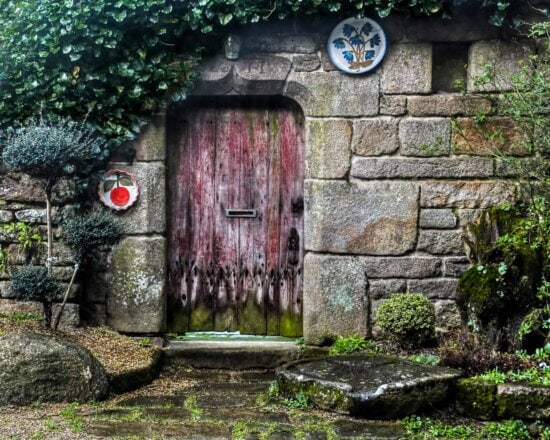architecture, wall, door, house, old, tree, outdoor, grass