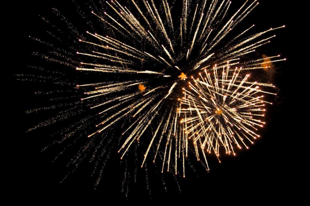 Festival, fuochi d'artificio, esplosione, partito, cielo, notte