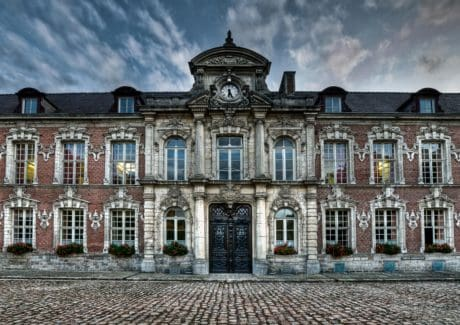 castle, exterior, art, old, facade, house, architecture, sky