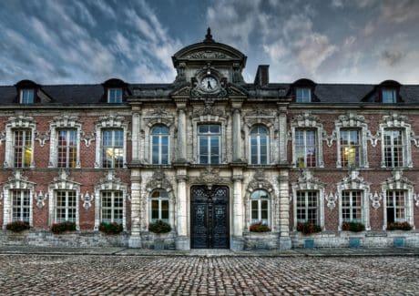 Burg, Exterieur, Kunst, alte, Fassade, Haus, Architektur, Himmel