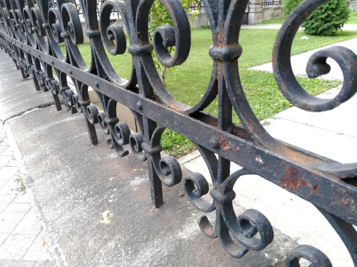желязо, стомана, ограда, превозно средство, Открит, смляно