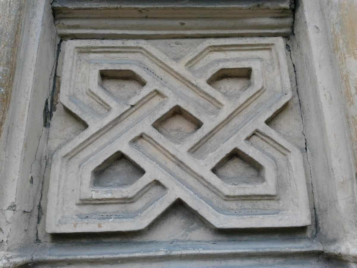 architettura in cemento, Arabesque, antica, all'aperto, parete
