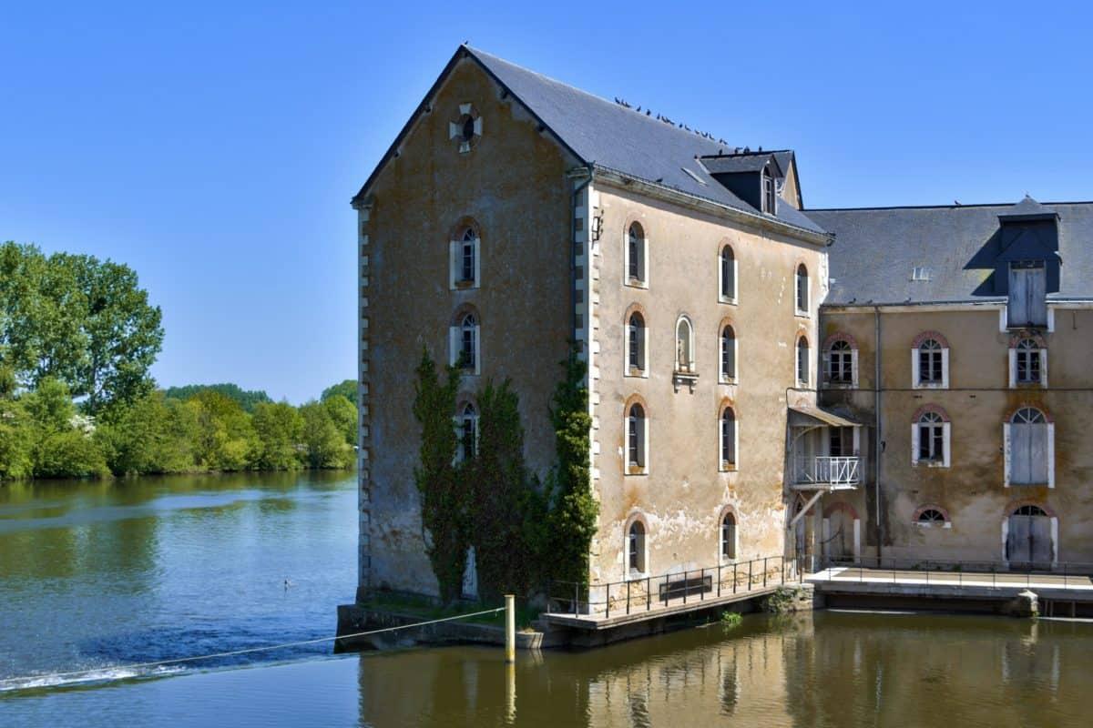 Rzeka, dom, odbicie, wody, architektura, Pałac, zamek