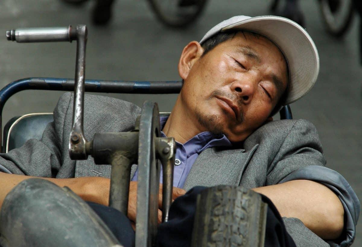 Čovječe, ljudi, osoba, spavati, raditi