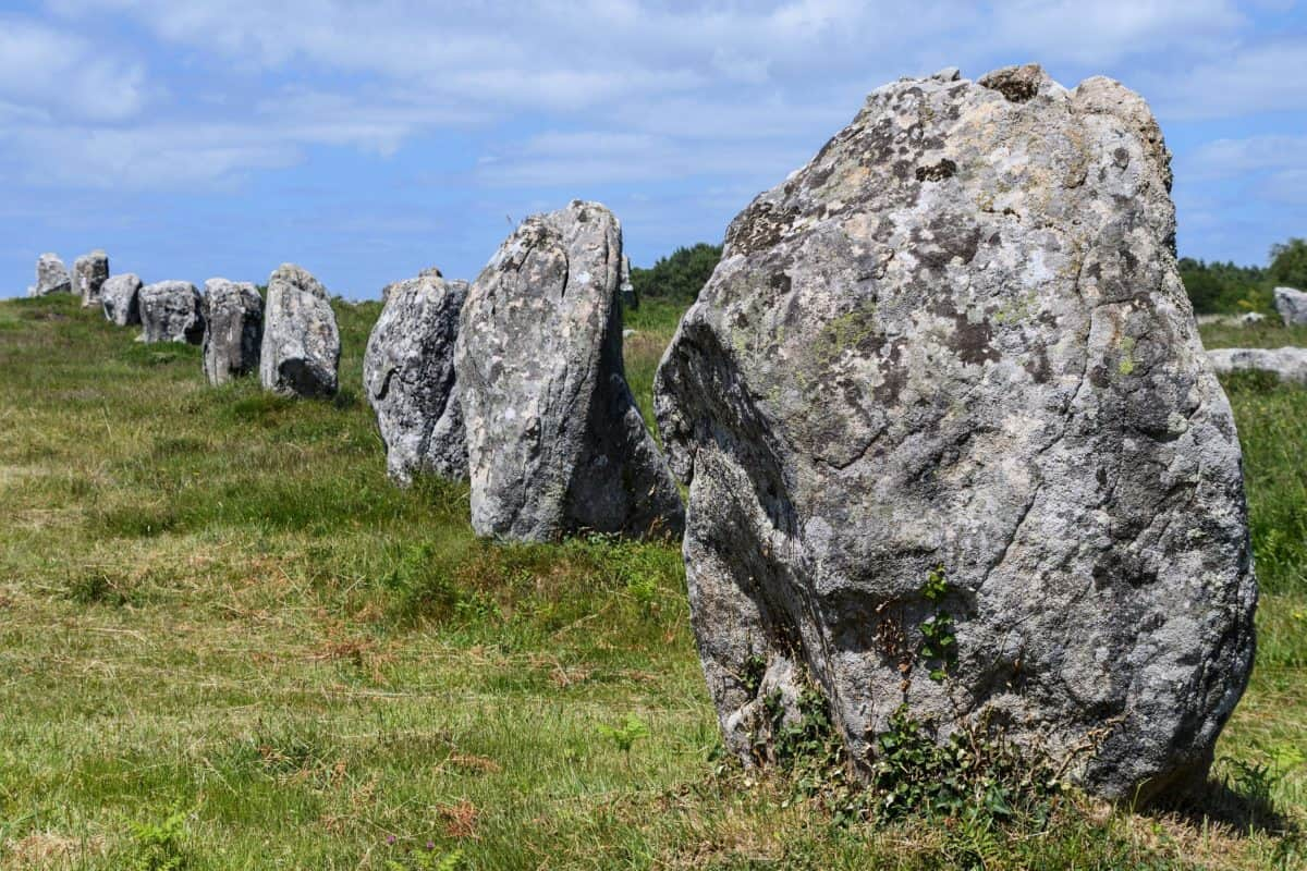 sky, stone, ancient, landscape, grass, outdoor