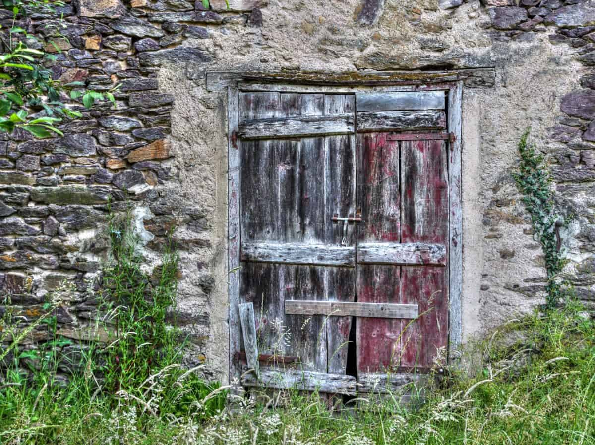 wall, rustic, wood, house, window, door, architecture, old