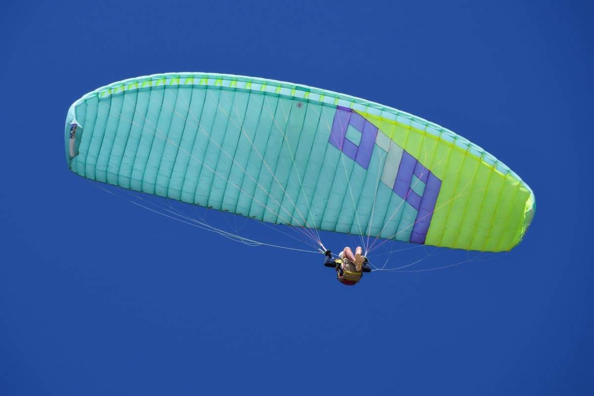 sport extrême, ciel, parachute, air, aventure, été