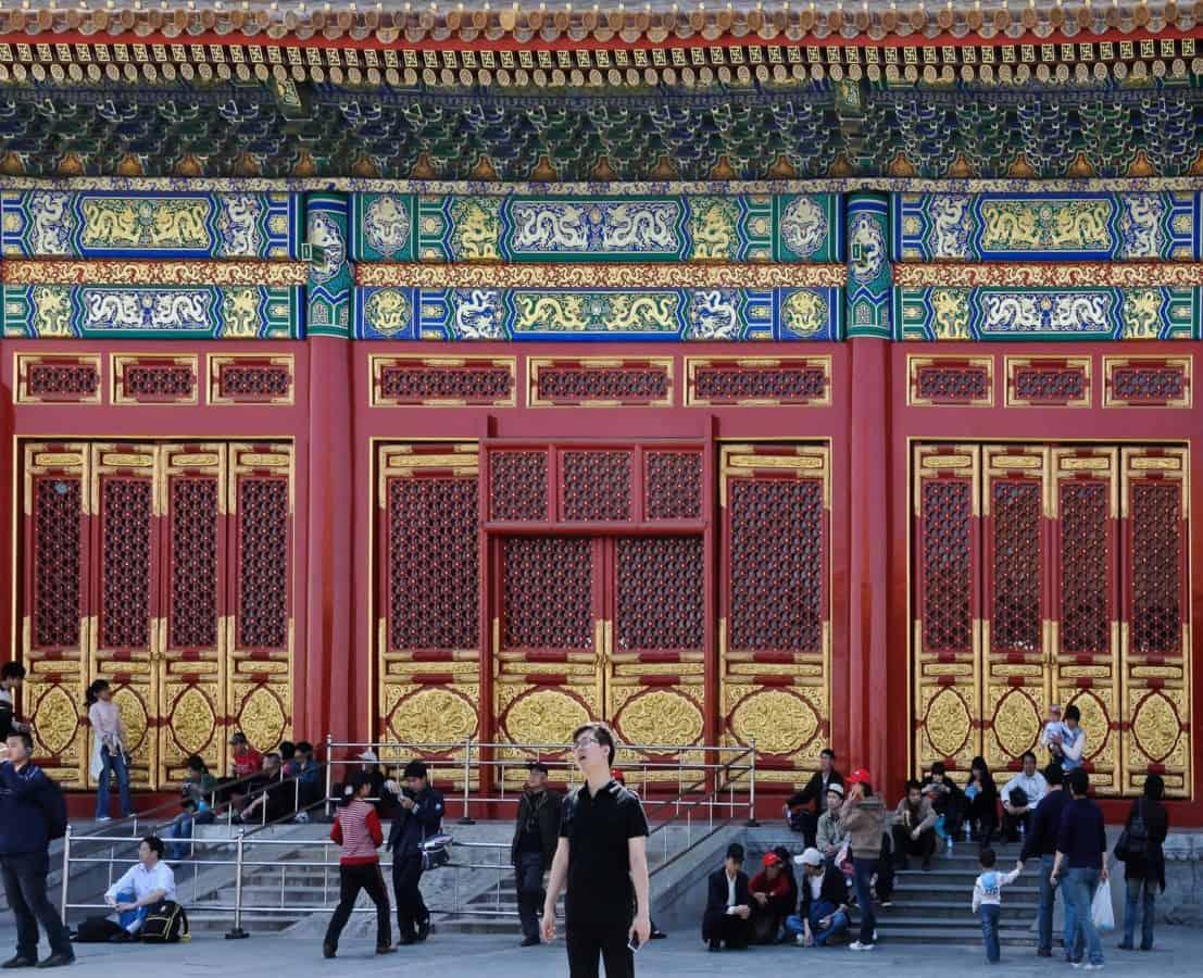 Architektur, Tempel, Palast, outdoor, Menschen