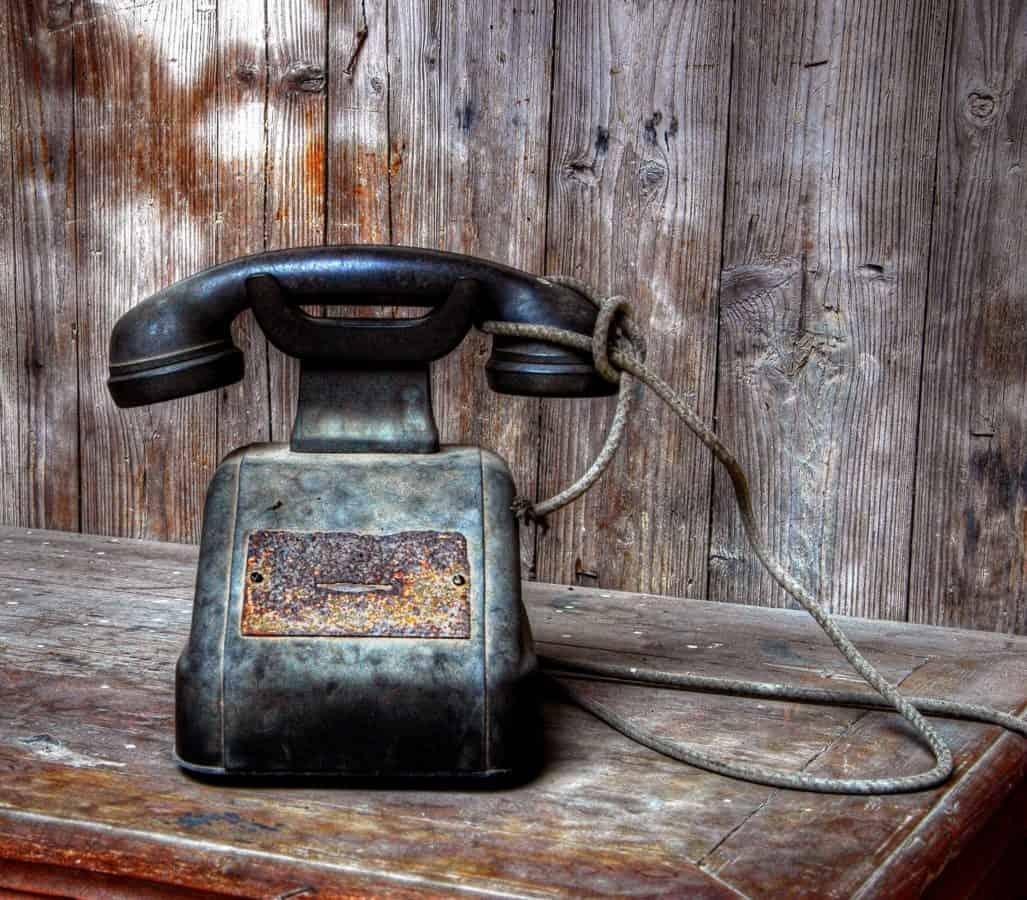 телефон, телефонна линия, дърво, ретро, носталгия, ръжда, Античен, желязо, стари, дървени