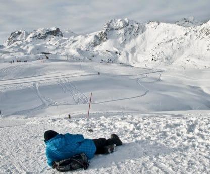 nieve, hielo, frío, montaña, invierno, esquiador, al aire libre, naturaleza