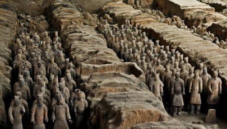 people, sculpture, statue, earthenware, art, Asia, stone, landscape