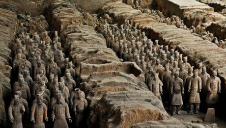 люди, скульптура, статуя, глиняної, мистецтво, Азії, кам'яні, краєвид