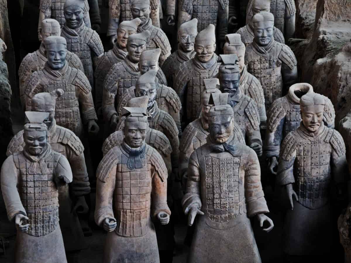 изкуство, статуя, Азия, Китай, религия, древни, скулптура, фигура