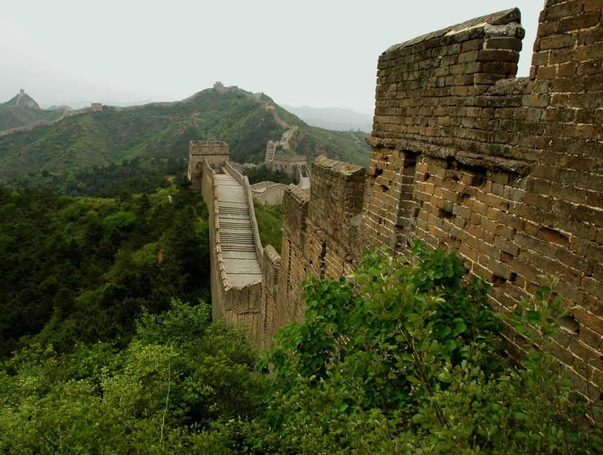 great China wall, stone, ancient, architecture, mountain, old