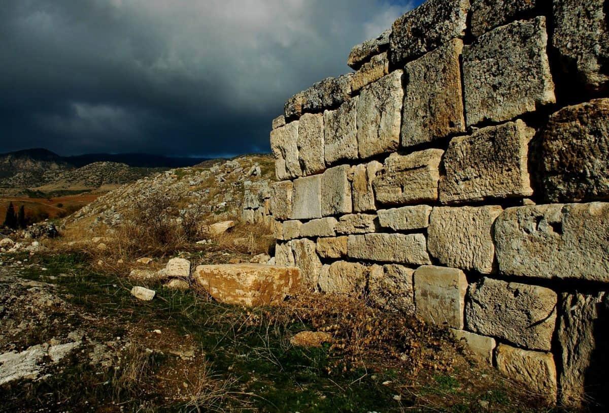 paesaggio di pietra, parete, all'aperto, erba