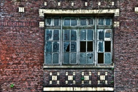 window, house, architecture, brick, old, wall, outdoor