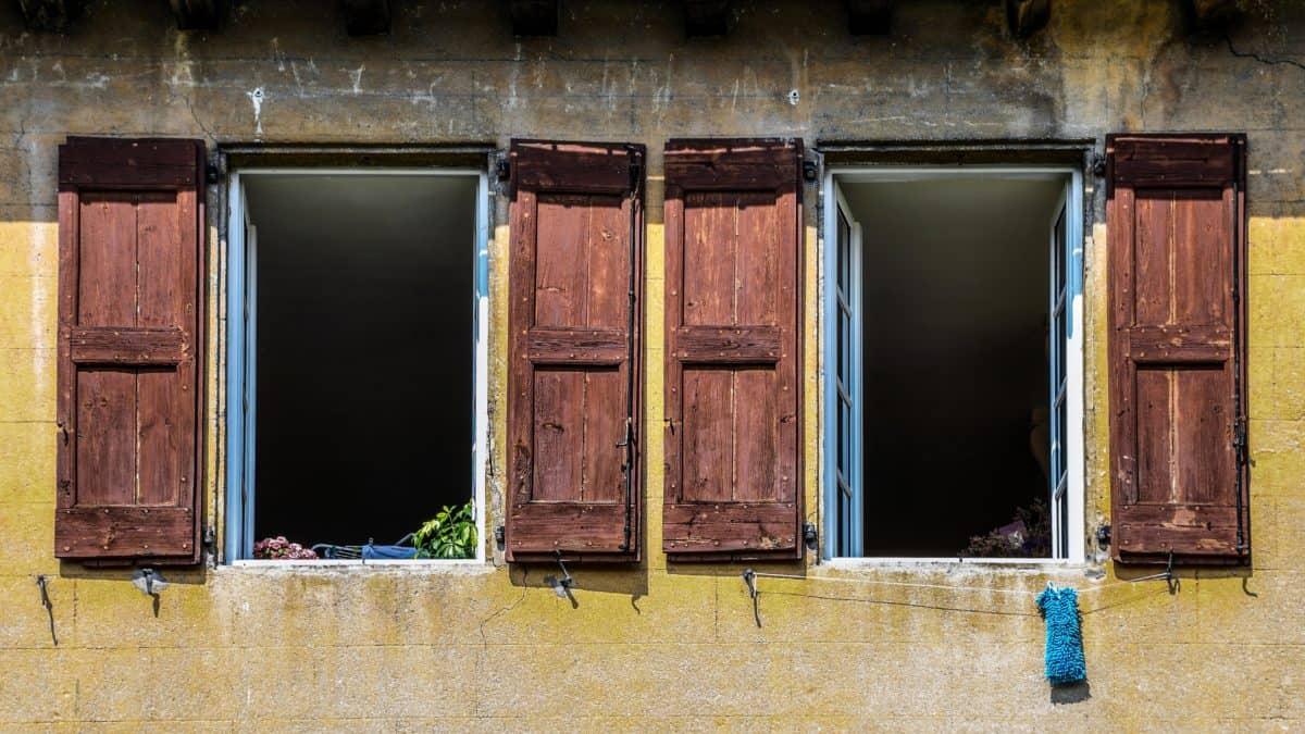 architettura, legno, porta, finestra, in legno, porta, casa, antica