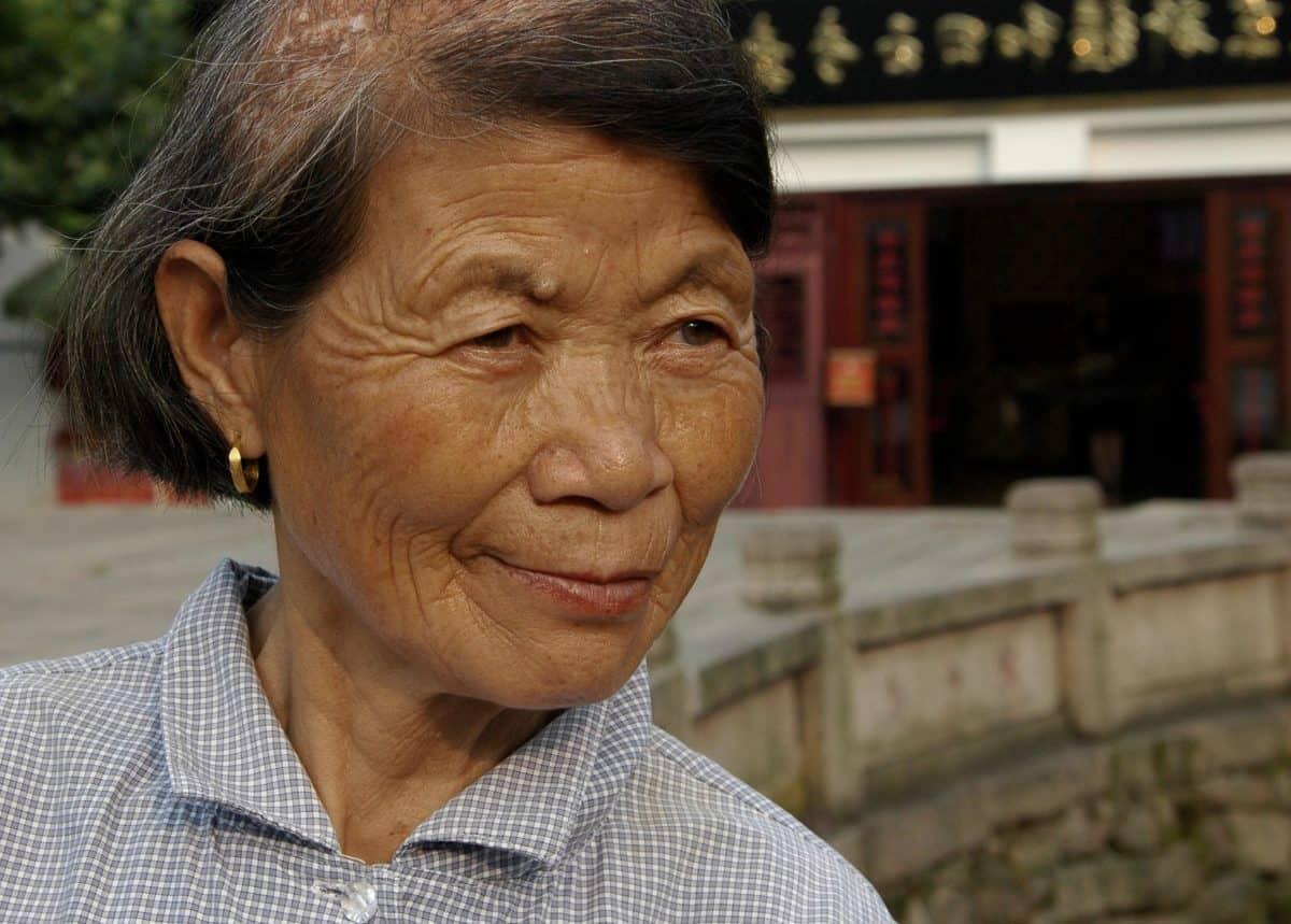 femme, Asie, portrait, visage, portrait, personnes âgées, personnes, personne