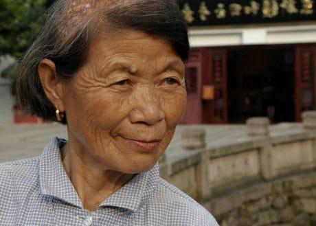 mujer, Asia, retrato, rostro, retrato, ancianos, personas, persona