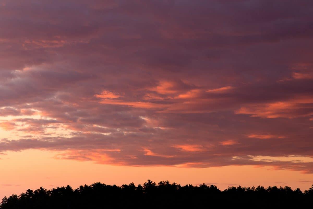 solen, dawn, sunset, sky, atmosfære, cloud, landskab, sollys