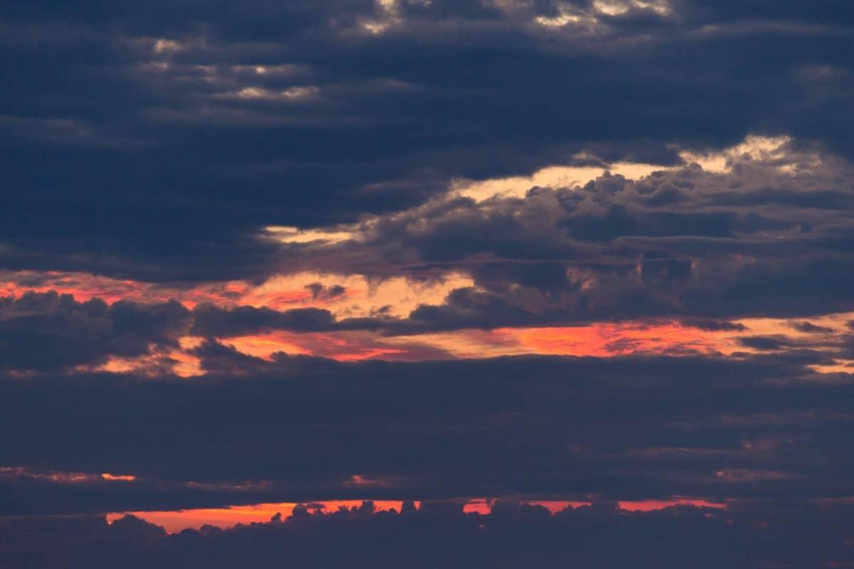 Alba, tramonto, cielo, natura, atmosfera, sole, nube, paesaggio