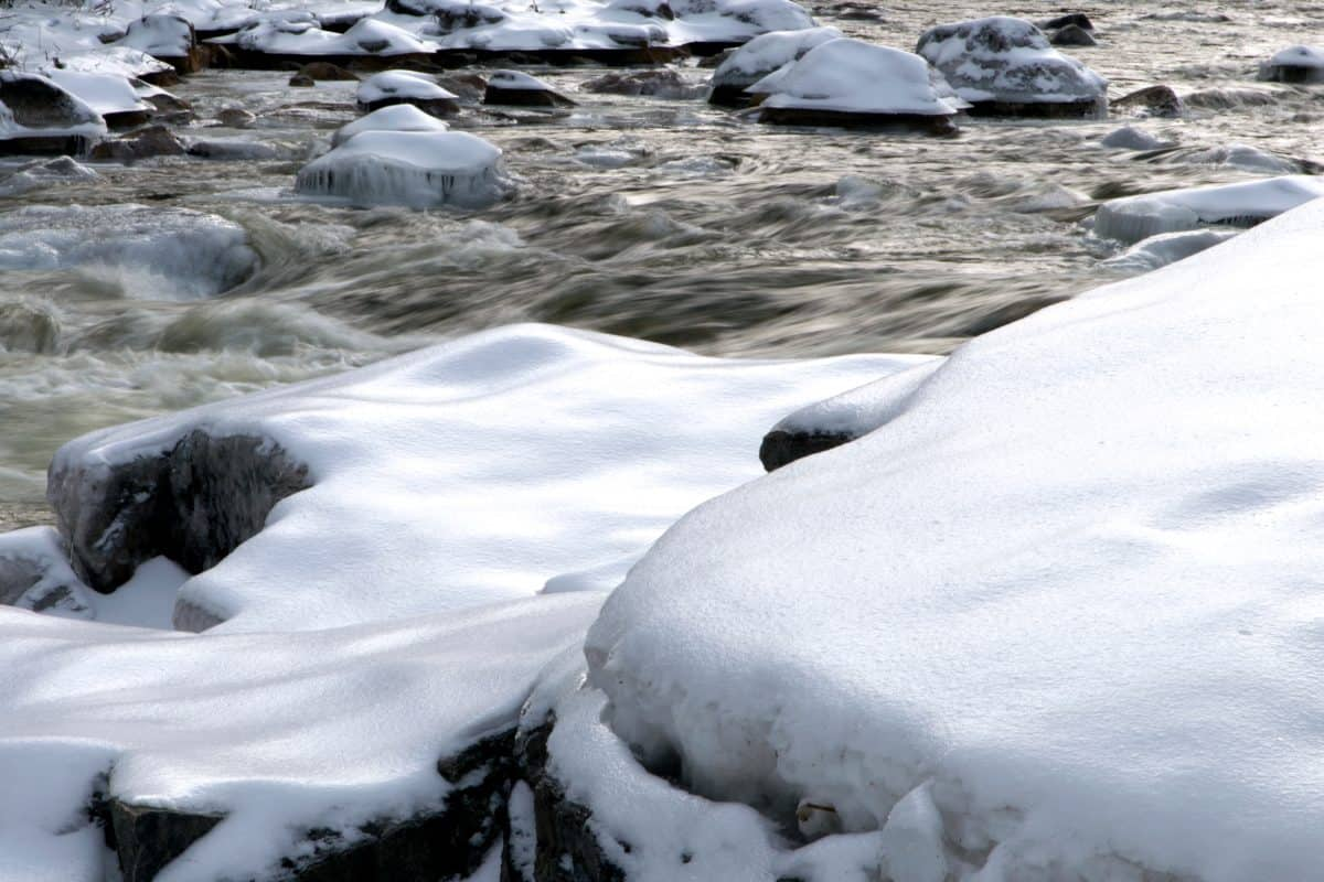 nature, snow, frozen, ice, water, cold, frost, river, winter