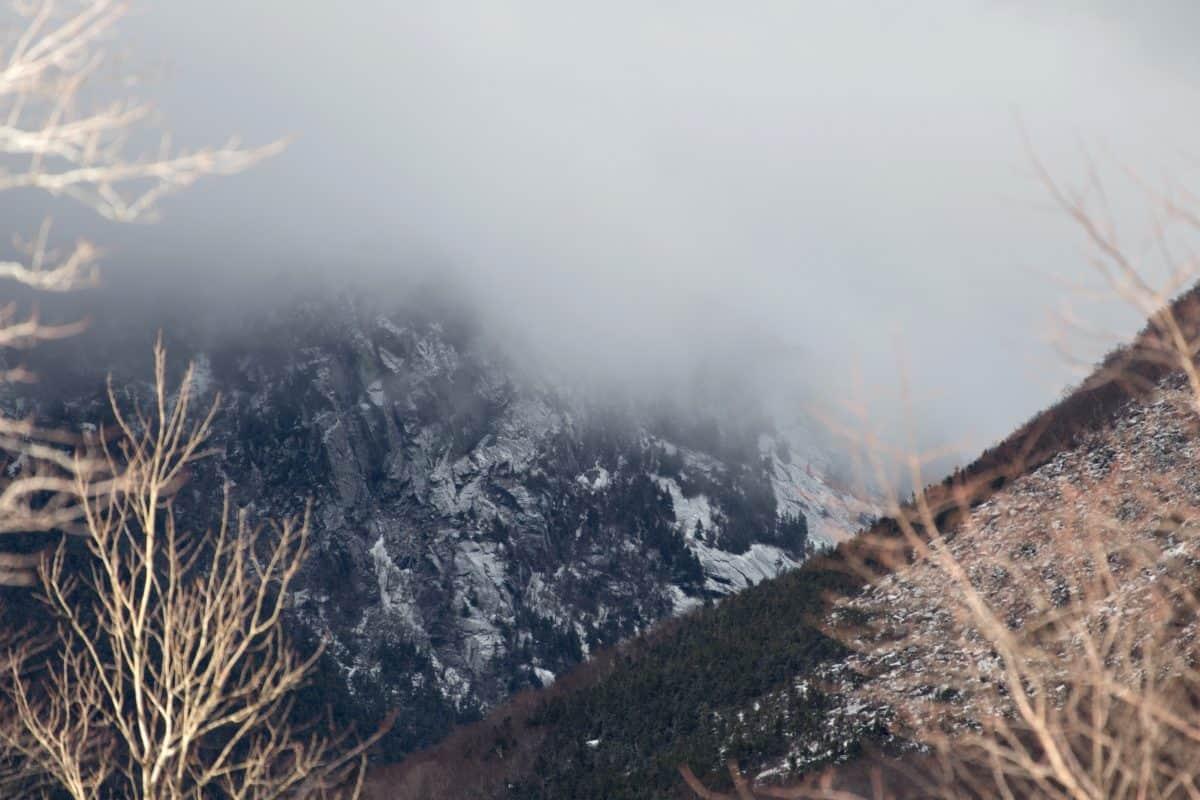 fog, nature, snow, landscape, sky, winter, mountain, forest