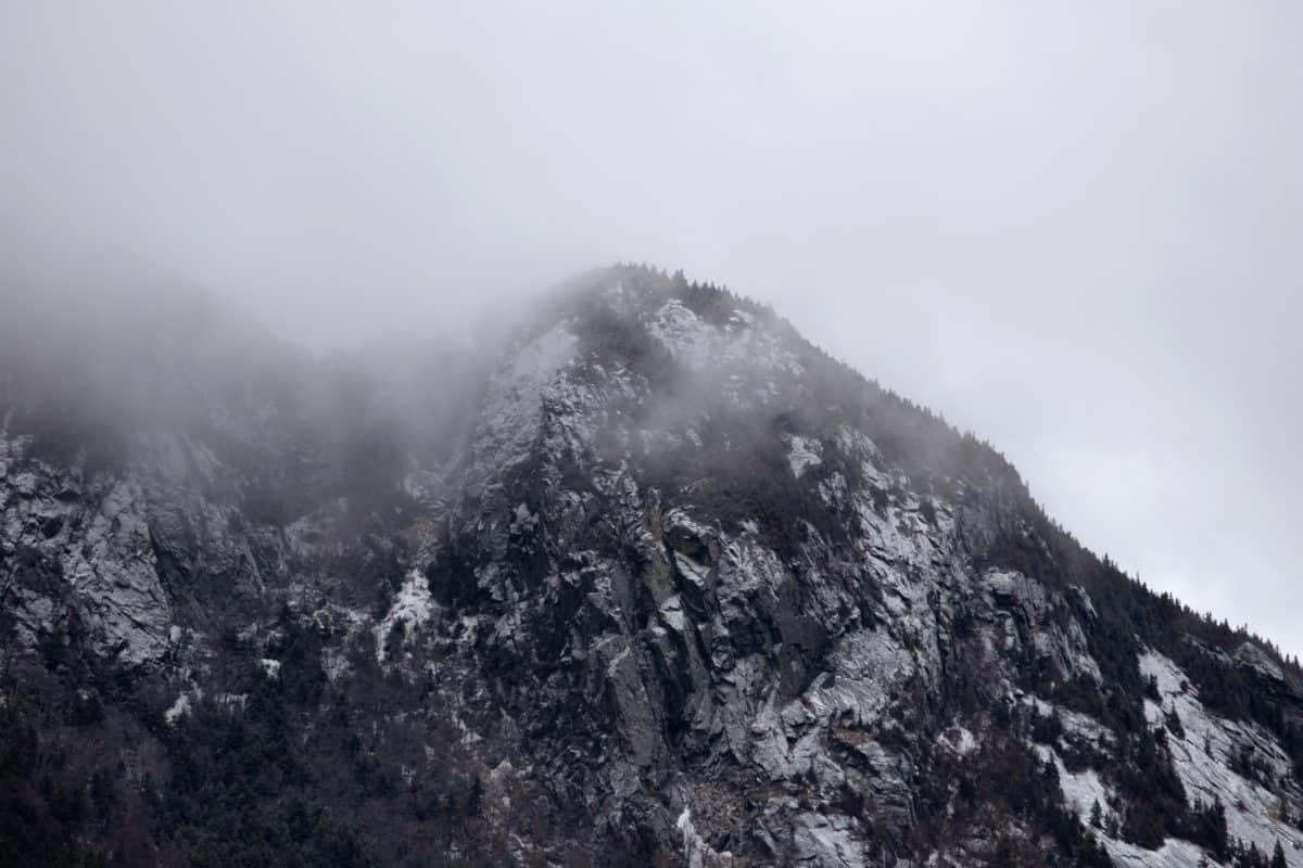 montagna, neve, nebbia, inverno, nebbia, paesaggio, natura all'aperto,
