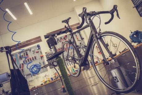 workshop, wheel, bicycle, wall, indoor