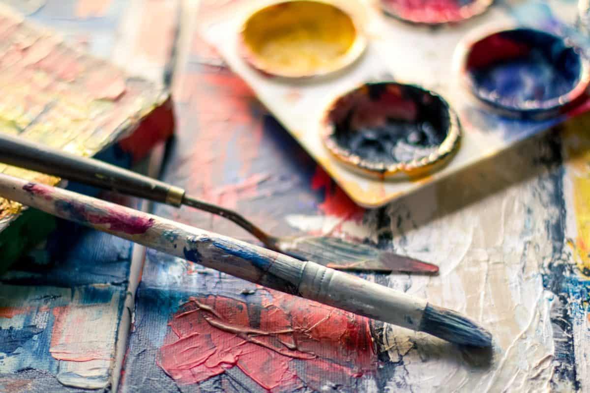 pittore, arte, belle arti, pennello, pennello, applicatore, carta, matita