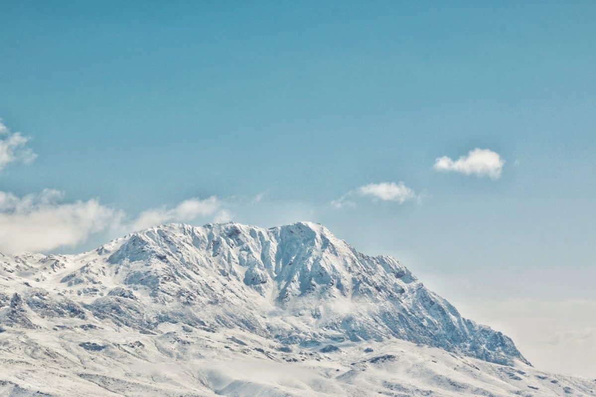 планина, сняг, студ, зима, лед, ледник, пейзаж, небе