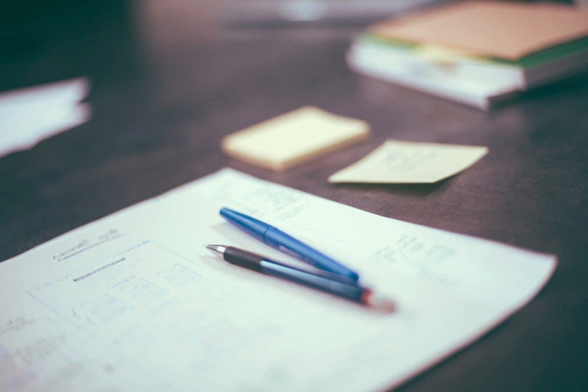 éducation, papier, crayon, gomme, intérieur