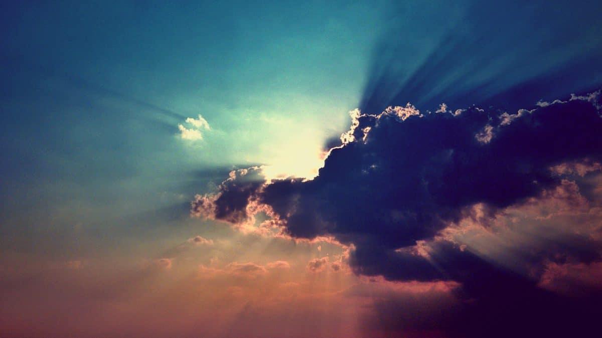 облак, небе, пейзаж, залез, дневна светлина, зората, природа, слънце