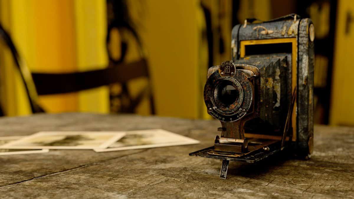 viejo, máquina, aparato, interior, Foto, cámara de PC antiguo
