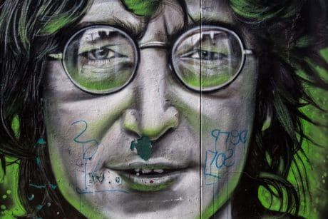 Graffiti, arte, decoración, cara, retrato, máscara, verde