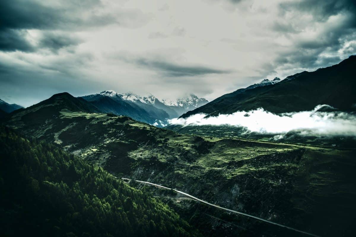 neige, ciel, montagne, paysage, plein air, nature