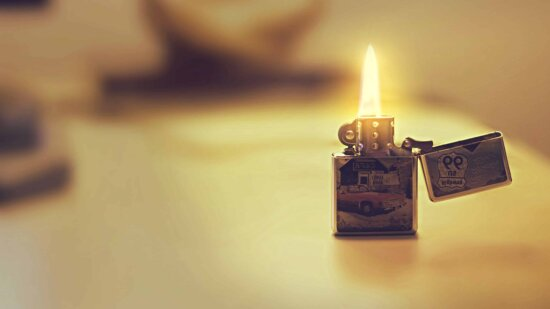 object, lighter, fire, flame