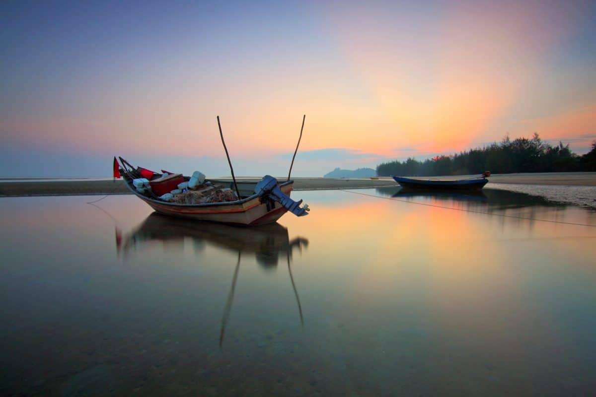 плавателен съд, лодка, вода, езеро, кораб, море, небе, Открит