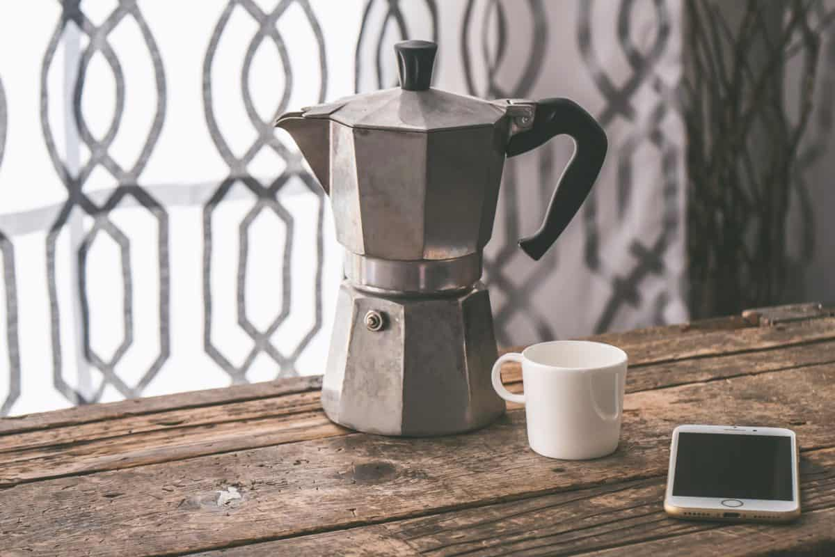 Kaffee, alte, Kaffeekanne, Topf, Tasse, Getränk, Tee, Getränke