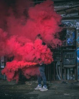 straat, rook, mensen, kunst, energie, stedelijk, vervuiling