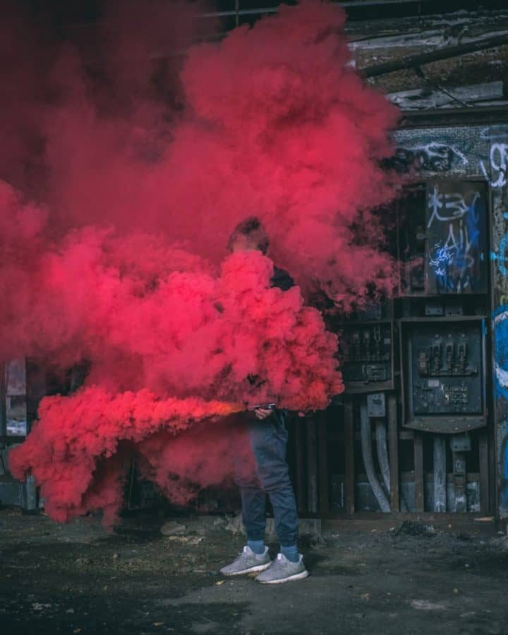 street, smoke, people, art, energy, urban, pollution