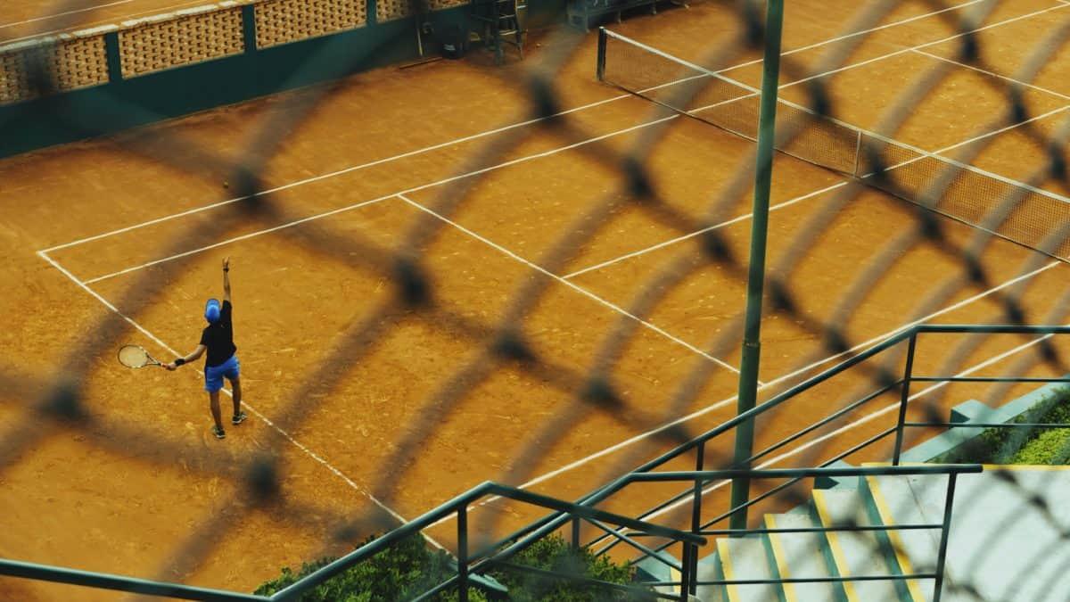 atleta, persone, palla, tennis, sport, stadio, concorrenza