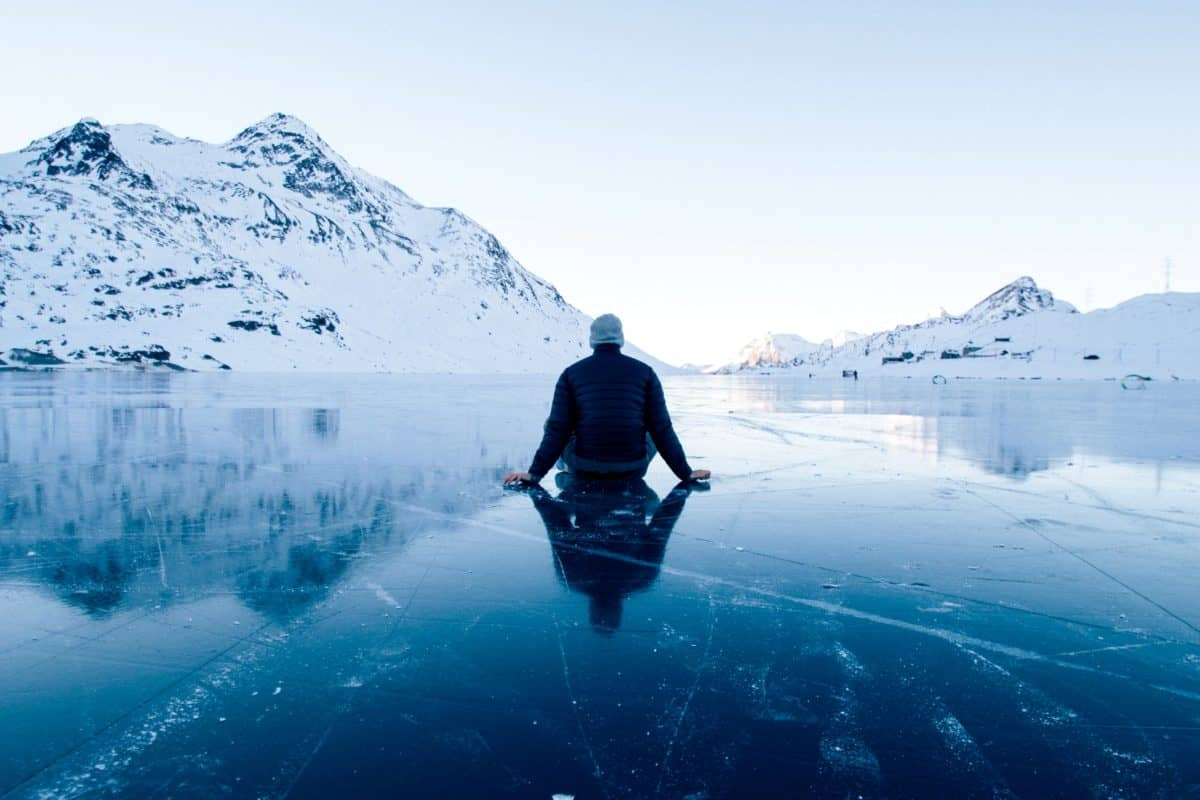 Eis, Berg, Schnee, Winter, Gletscher, Skifahrer, Kälte, Landschaft