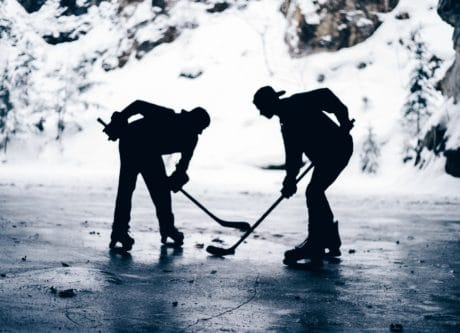 hockey, snow, man, people, shovel, winter, tool, cold, mountain, extreme sport