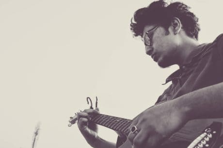 people, music, musician, guitar, monochrome, instrument, guitarist