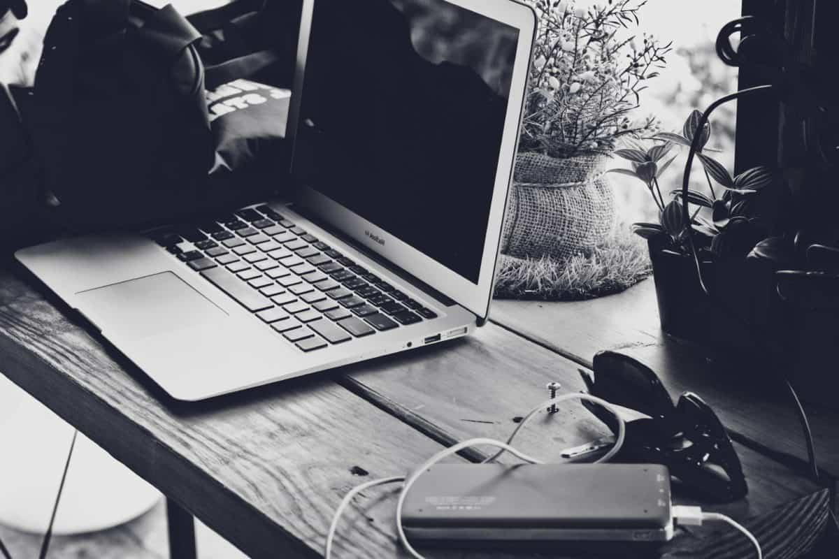 marketing, munka, technológia, laptop, emberek, számítógép, notebook, fekete-fehér