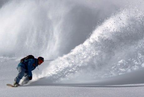 snowboard, nieve, invierno, máquina, frío, al aire libre, deporte
